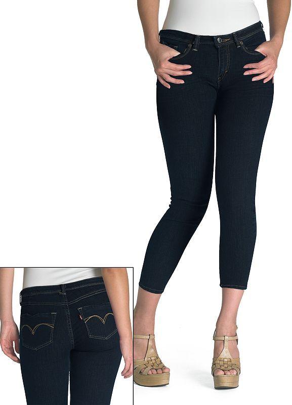 Levi's crop denim leggings - juniors