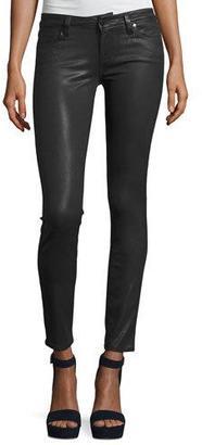 Paige Denim Verdugo Coated Ultra-Skinny Jeans, Charcoal $219 thestylecure.com