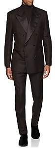 Brioni Men's Wool-Mohair Double-Breasted Tuxedo - Brown