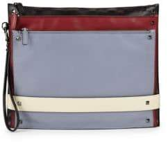 Valentino Colorblock Tri-Compartment Clutch