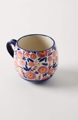 Anthropologie Painted Poppies Mug