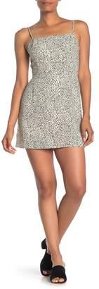 Lush Bow Back Printed Mini Dress