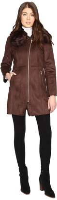 Cole Haan Faux Shearling with Toscana Trim Women's Coat