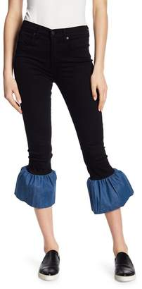 Genetic Los Angeles Runaway Contrast Flare Hem Jeans