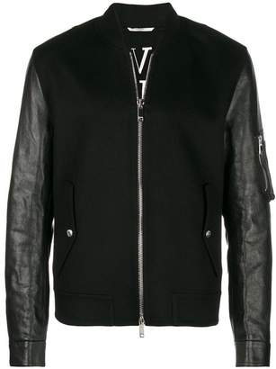 Valentino contrast sleeves bomber jacket