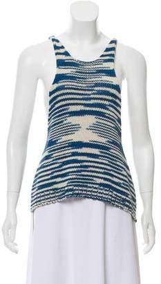 LAUREN MANOOGIAN Crochet Sleeveless Knit Top