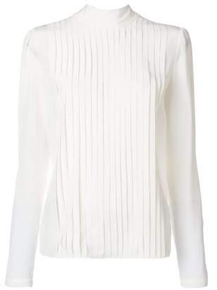 Rochas pleat front blouse