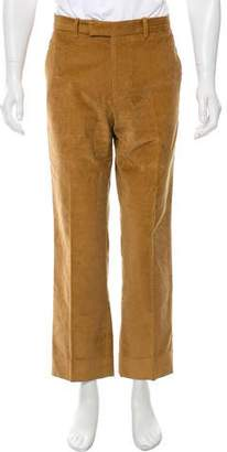 Etro Cropped Flat Front Casual Corduroy Pants