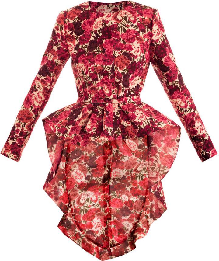Giambattista Valli Couture Carnation-print smoking jacket