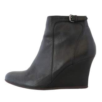 Lanvin Black Leather Ankle boots