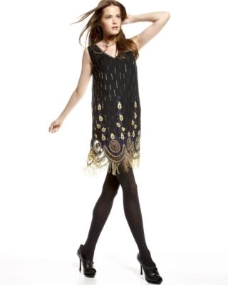 Beyond Vintage Beaded Fringe Dress (CUSP Most Loved!)