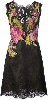Marchesa floral embroidered lace dress