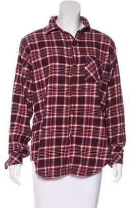 Current/Elliott Flannel Button-Up Top