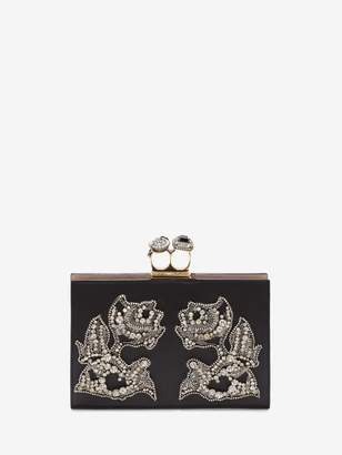 Alexander McQueen Jeweled Double Ring Clutch