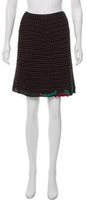 Prada Embellished Crochet Skirt Navy Embellished Crochet Skirt