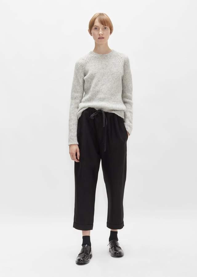 Sara Lanzi Viscose Crepe Drawstring Pant Black
