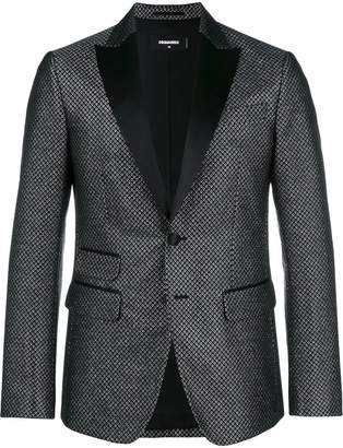 DSQUARED2 patterned tuxedo jacket