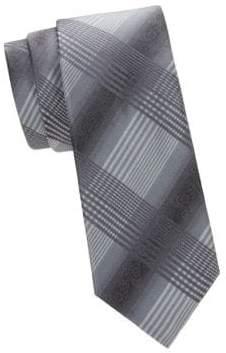 Saks Fifth Avenue Check Silk Tie