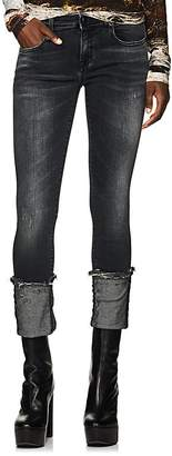 R 13 Women's Kate Mid-Rise Cuffed Skinny Jeans
