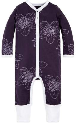 Burt's Bees Baby Blackberry Floral Snap Front Organic Coverall