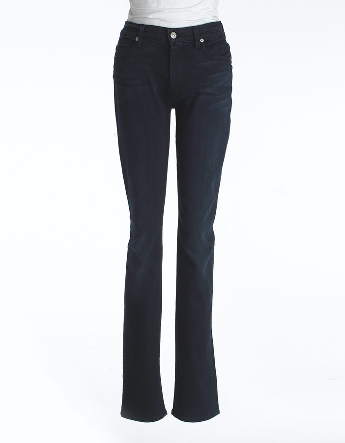 7 For All Mankind SEVEN Mid-Rise Straight Leg Jeans