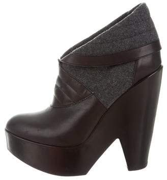 Derek Lam Leather Platform Ankle Boots