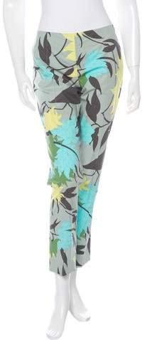 Emilio Pucci Floral Print Cropped Pants w/ Tags