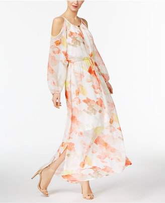 Calvin Klein Cold-Shoulder Maxi Dress $129.50 thestylecure.com