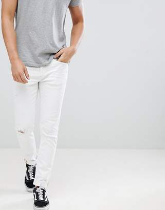 Blend of America Cirrus Ripped Skinny Jeans in White
