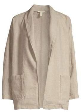 Eileen Fisher Women's Linen Shawl Collar Jacket - Undyed Natural - Size XS