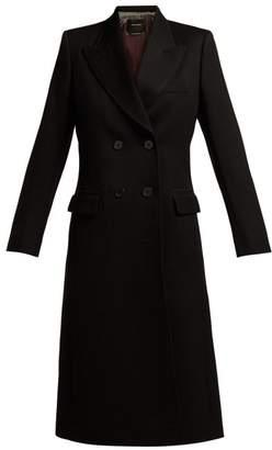 Isabel Marant Joleen Double Breasted Wool Twill Coat - Womens - Black