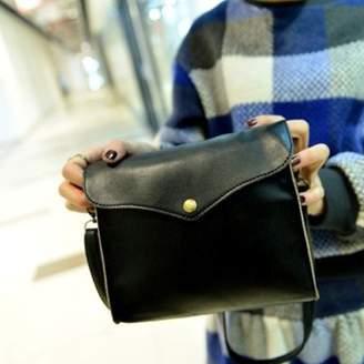 Unbranded Womens Leather Shoulder Bag Satchel Handbag Tote Hobo Messenger Black