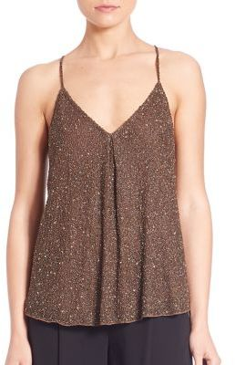 Polo Ralph Lauren Beaded Y-Back Tank $298 thestylecure.com