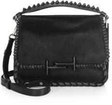 Tod's Studded Leather Messenger Bag
