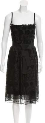 Dolce & Gabbana Eyelet Silk Dress w/ Tags