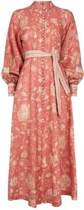 Zimmermann Floral Print Linen Dress