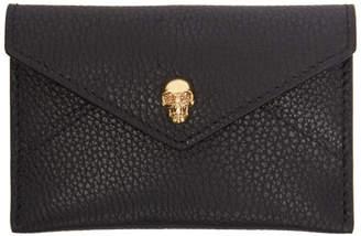 Alexander McQueen Black Skull Envelope Card Holder