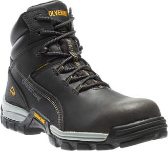 Wolverine Mens Tarmac 6 Carbonmax Waterproof Slip Resistant Composite Toe Work Boots Lace-up