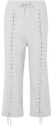 McQ Lace-up Cotton-blend Jersey Track Pants - Ivory