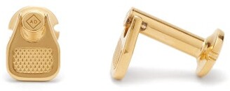 Dunhill Duke Gold Tone Silver Cufflinks - Mens - Gold