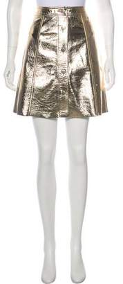 MiH Jeans Leather Metallic Skirt w/ Tags