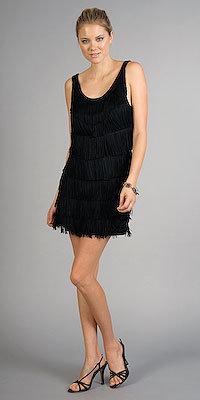 Black Fringe Dresses by Velvet