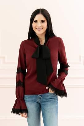 Rachel Parcell Claret Tie Blouse