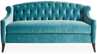 Kristin Drohan Collection Coco Tufted Sofa - Calypso Velvet