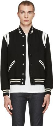Saint Laurent Black Teddy Bomber Jacket $2,390 thestylecure.com