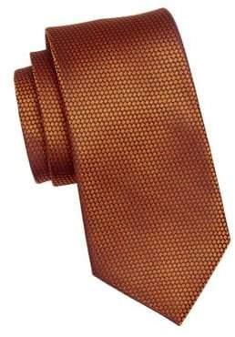 Ermenegildo Zegna Men's Geometric Silk Tie - Orange