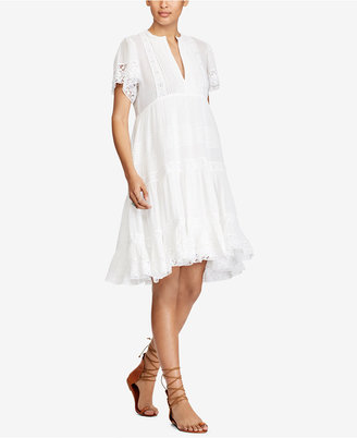 Denim & Supply Ralph Lauren Fit & Flare Cotton Dress $165 thestylecure.com