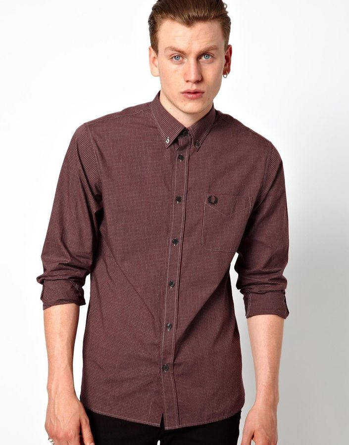 Fred Perry Micro Gingham Shirt