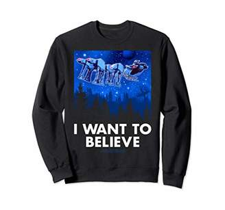 Star Wars Santa Vader and The Flying Imperial Walkers Sweatshirt