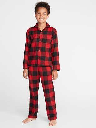 Old Navy Plaid Flannel Sleep Set for Boys